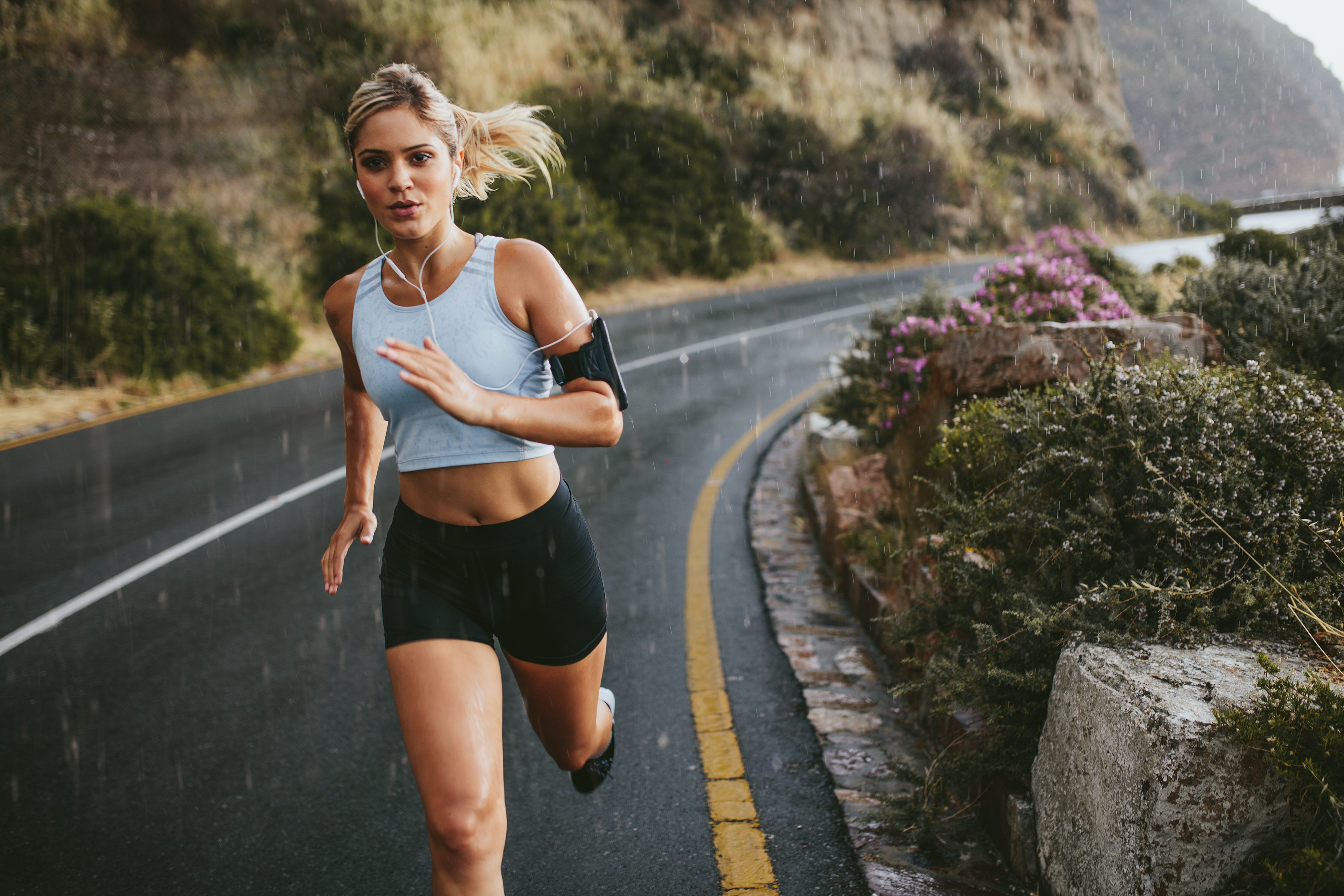 Sexy woman running 4