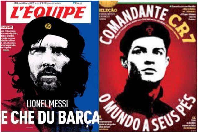 Messi diventa Che Guevara su L'Equipe: era già successo a Cr
