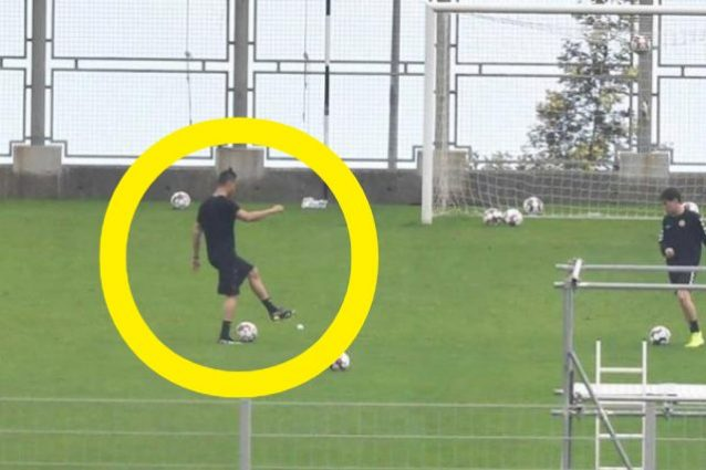 Cristiano Ronaldo si allena in uno stadio aperto solo per lu