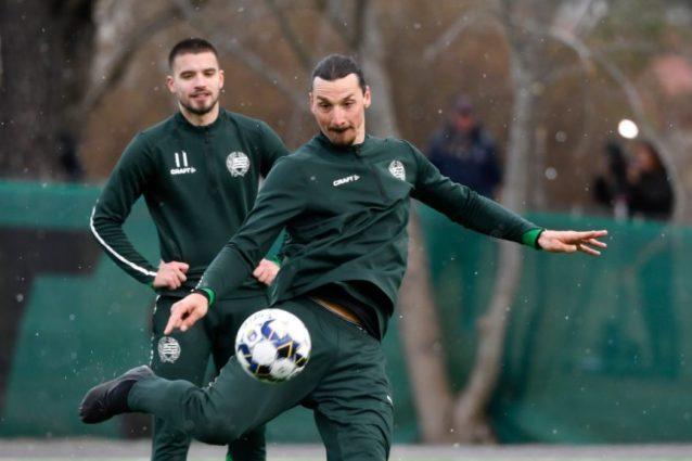 """Zlatan Ibrahimovic si allena con la """"sua"""" squadra: gli svede"""