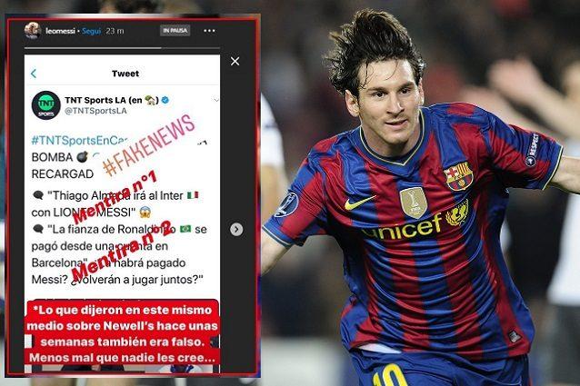 """Messi smentisce le notizie di una trattativa con l'Inter: """"S"""