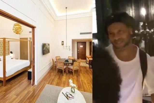 Ronaldinho ai domiciliari in una suite con servizio in camer