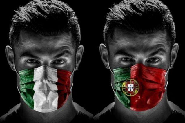 """Cristiano Ronaldo con la mascherina dell'Italia: """"Momento di"""