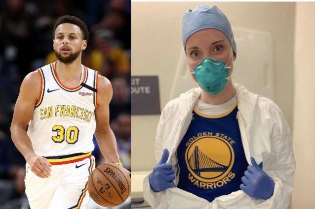 La stella dell'NBA Steph Curry chiama l'infermiera che indos
