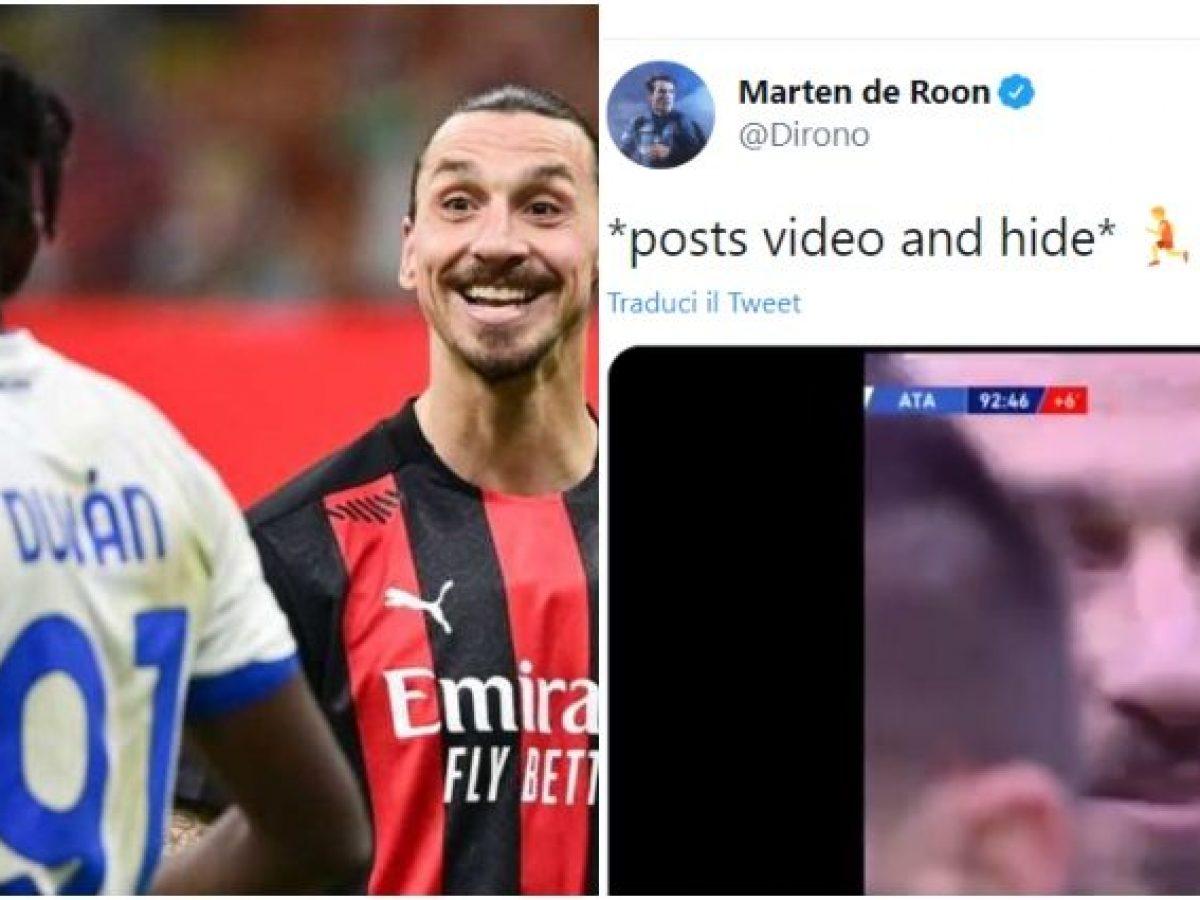 De Roon sfotte Ibrahimovic e posta i gol dell'Atalanta contro il ...