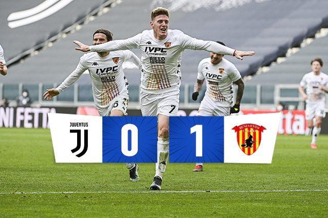 Juventus Benevento 0 1 Risultato Finale Serie A 2020 2021 Gol Di Gaich
