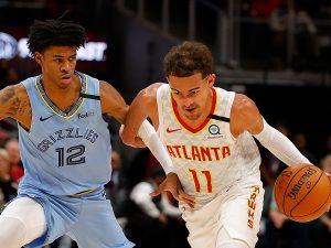 GettyImages 1209996170 300x225 - La notte delle giovani superstar nei playoff NBA: Morant, Young e Booker dominano