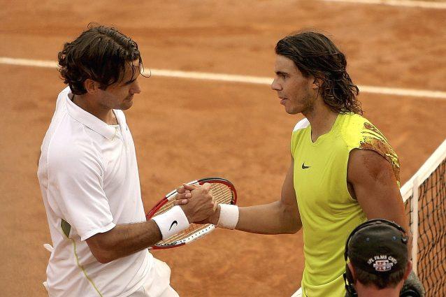 """GettyImages 57609660 638x425 - Nadal-Federer, la finale più bella degli Internazionali d'Italia: """"Una partita incredibile"""""""