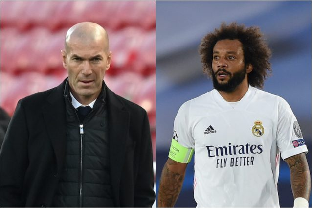 Marcelo 638x425 - Marcelo litiga con Zidane in allenamento: escluso dal Real Madrid