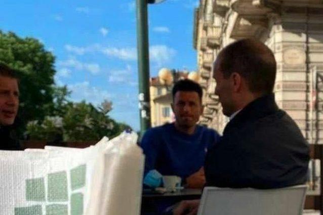 Schermata 2021 05 15 alle 09 1621064425768 638x425 - Allegri al centro di Torino con Grosso e Cherubini: lo scatto scatena i tifosi della Juve
