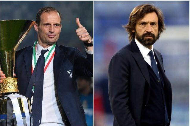 allegri vs pirlo juve 1622055340966 - Allegri e Pirlo in ballottaggio: è corsa a due per la panchina della Juventus
