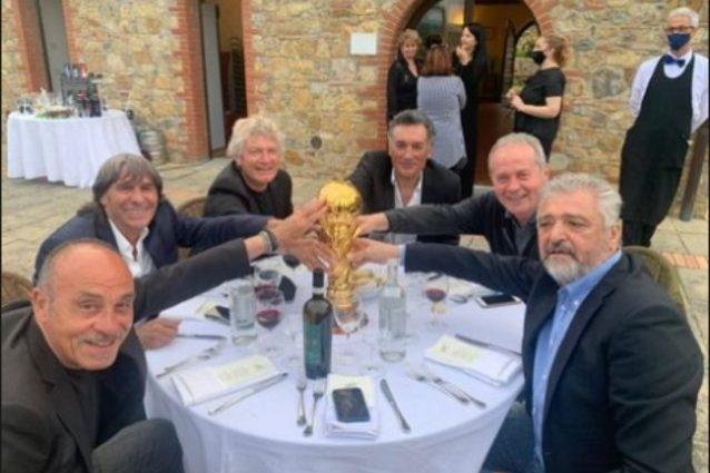 """altobelli pranzo paolo rossi 638x425 - """"Tutti insieme, nel tuo ricordo"""". L'Italia Mundial di nuovo con Paolo Rossi"""