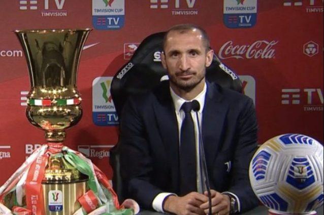 """chiellini finale coppa italia 638x425 - Da Calvarese alla Coppa Italia, la finale di Chiellini: """"Fermiamo la favola Atalanta"""""""