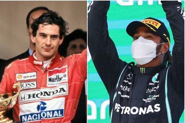 hamilton 5 senna monaco 1620763703426 - Lewis Hamilton vincendo a Barcellona ha eguagliato un super record di Ayrton Senna