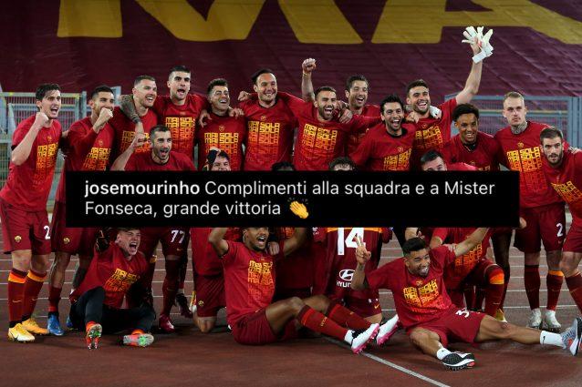 """image 2021 05 15T20 58 03 723Z 638x425 - Mourinho esulta per il derby alla Roma: """"Complimenti a Fonseca"""""""