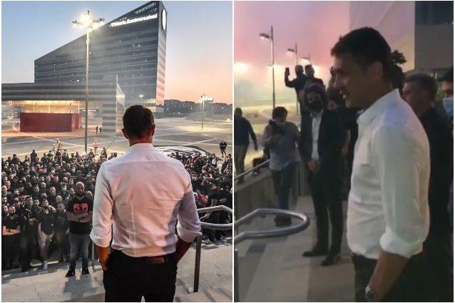 """maldini milan tifosi 638x425 - Maldini carica il Milan e saluta i tifosi: """"Questo è solo l'inizio, Champions punto di partenza"""""""