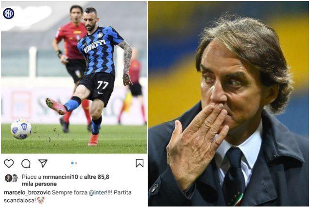 """mancini 638x425 - Juventus-Inter """"partita scandalosa"""": il CT dell'Italia Mancini mette il like e poi lo cancella"""