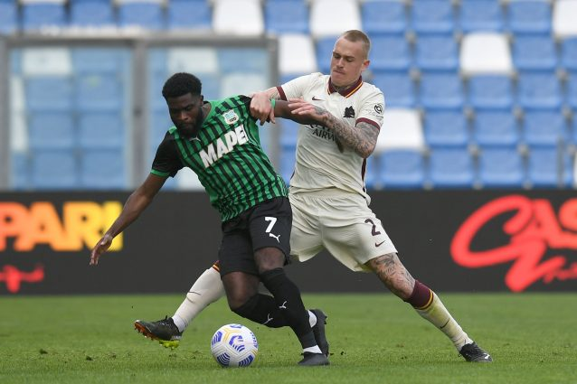 roma sassuolo conference league 638x425 - Roma o Sassuolo, chi va in Conference League in Serie A: combinazioni e risultati