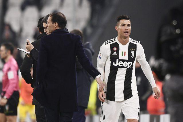 """ronaldo allegri juventus 01 638x425 - """"Sta bloccando la Juve"""": il ritorno di Allegri spinge via Cristiano Ronaldo"""