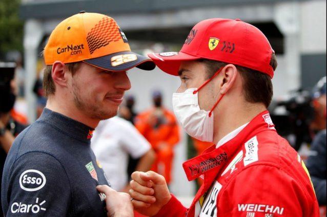 """verstappen leclerc incidente monaco 638x425 - L'incidente ha salvato la pole a Monaco, Verstappen scagiona Leclerc: """"Non l'ha fatto apposta"""""""