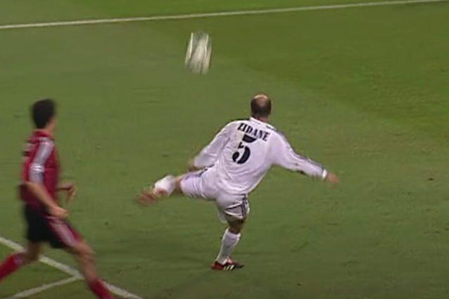 zidane bayer leverkusen gol 638x425 - Zidane giocava su una nuvola e il gol contro il Bayer Leverkusen ne è la prova