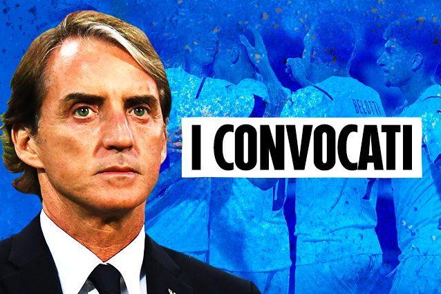 CONVOCATI ARTICOLO 638x425 - I 26 convocati dell'Italia per gli Europei 2021: Mancini chiama Raspadori e ne taglia tre