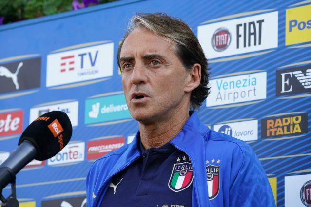 """GettyImages 1321508458 638x425 - Mancini fissa l'obiettivo dell'Italia: """"Vogliamo giocare la finale a Wembley l'11 luglio"""""""