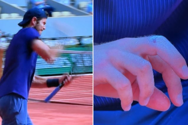 Schermata 2021 06 02 alle 17.28.02 638x425 - Il curioso infortunio di Khachanov: dà un pugno alla racchetta e si ferisce alla mano