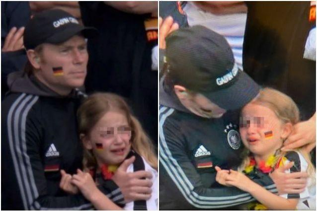 bambina tedesca inghilterra censored 638x425 - L'immagine della bambina tedesca che piange scatena l'esultanza dei tifosi dell'Inghilterra