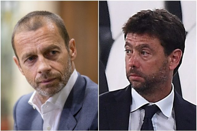 "ceferin agnelli 638x425 - Gelo totale tra Uefa e Juventus, Real e Barcellona: ""Nessun dialogo con loro"""