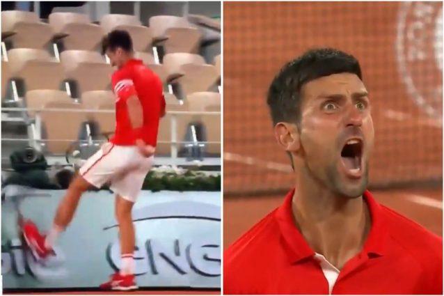djoko 638x425 - Urla, sputo e calci: Djokovic sull'orlo di una crisi di nervi contro Berrettini