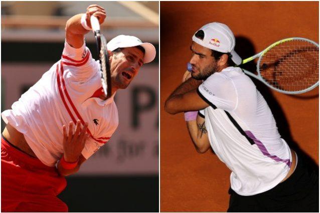 """djokovic berrettini 638x425 - Djokovic teme Berrettini nei quarti del Roland Garros: """"Con lui devi essere al top per vincere"""""""