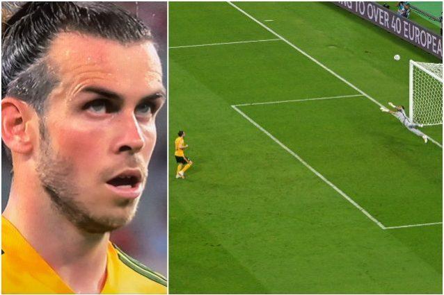 """gareth bale si guarda prima del rigore 638x425 - """"Come Cristiano Ronaldo"""": il gesto di Bale prima del rigore sbagliato"""