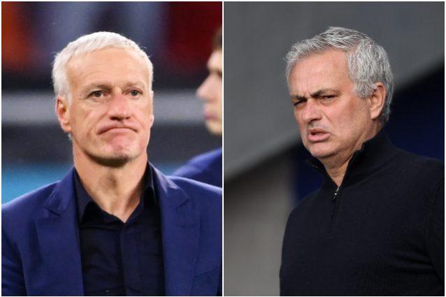 """mourinho deschamps 638x425 - Mourinho svela l'errore di Deschamps che è costato l'eliminazione alla Francia: """"Poi vuoi spararti"""""""