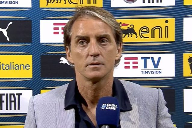 """roberto mancini italia 638x425 - """"Speravo di vederla così"""": l'Italia che sognava Mancini oggi è realtà"""