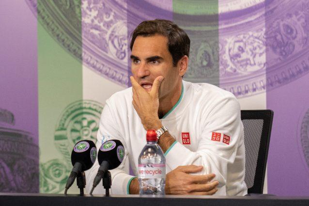 """GettyImages 1327512809 638x425 - L'epopea di Federer a Wimbledon potrebbe essere finita: """"Alla mia età non si può mai sapere"""""""