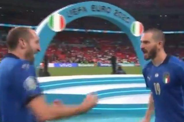 """bonucci 1626084024202 - Bonucci in trance agonistica esulta senza freni a Wembley: """"Ce lo succh***o"""""""