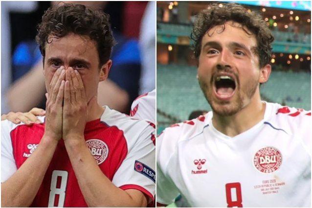 """delaney eriksen danimarca 638x425 - Dalle lacrime a Wembley, Danimarca in semifinale per Eriksen: """"Sa che giochiamo per lui"""""""