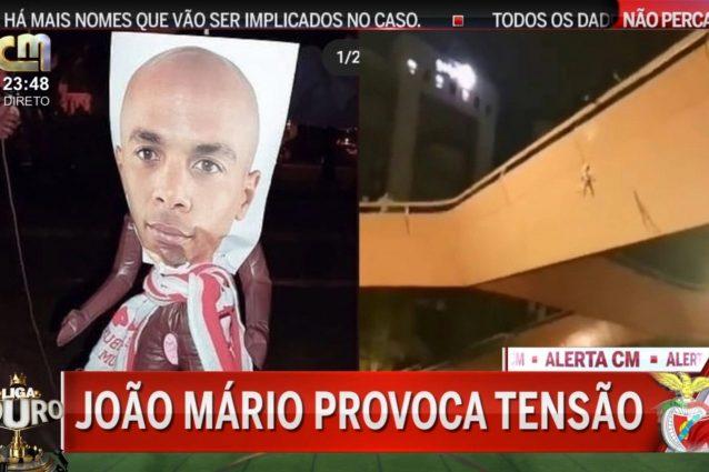 joao mario fantoccio 638x425 - Joao Mario va al Benfica e a Lisbona compare un fantoccio impiccato con la sua foto