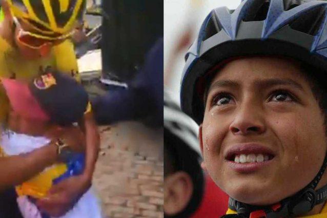 julian gomez bernal 638x425 - È morto Julián Gómez, il bambino che il mondo vide piangere per il trionfo di Bernal al Tour 2019