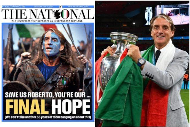 mancini abbonamento the national 638x425 - Il giornale scozzese The National: abbonamenti a vita per Mancini Braveheart e gli Azzurri