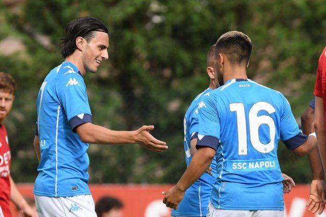 napoli gol 1626637339859 638x425 - Amichevoli: il Napoli vola con Osimhen, la Roma si affida a Dzeko e Zaniolo. Bene anche il Bologna