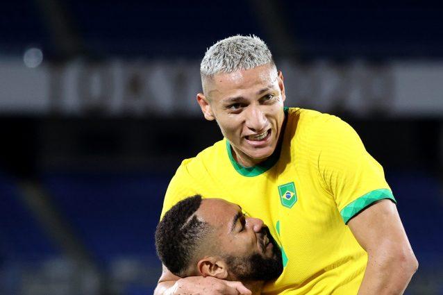 richarlison brasile germania 1626961939819 638x425 - I numeri pazzeschi di Richarlison nella vittoria del Brasile all'esordio alle Olimpiadi di Tokyo