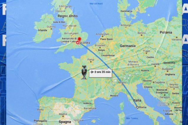 """sfotto nazionale inghilterra 638x425 - La Nazionale non resiste, sfottò dell'Italia all'Inghilterra: """"It's coming Rome"""""""