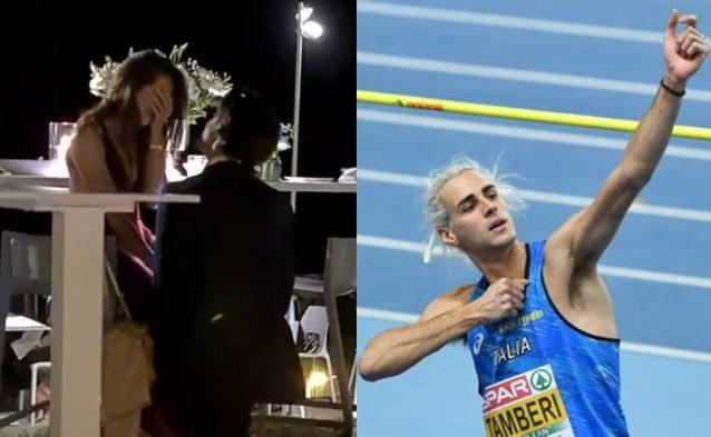 """tamberi proposta matrimonio - """"Ha detto sì"""": la proposta di matrimonio di Gianmarco Tamberi alla vigilia delle Olimpiadi di Tokyo"""