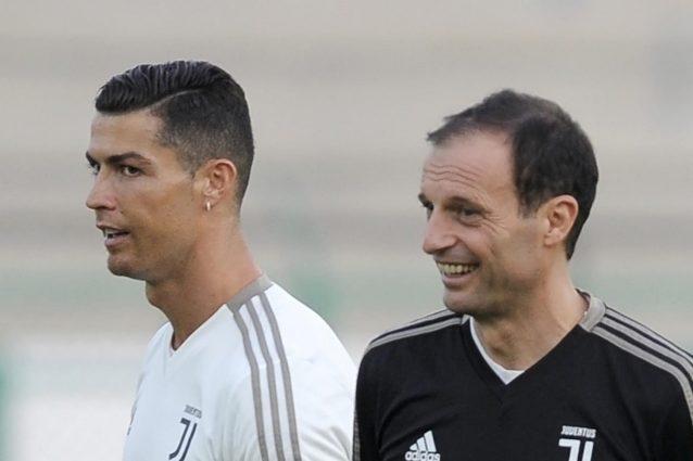 """GettyImages 1083142266 1629543519690 638x425 - Allegri chiude il tormentone Ronaldo: """"Mi ha detto che resta alla Juventus"""""""