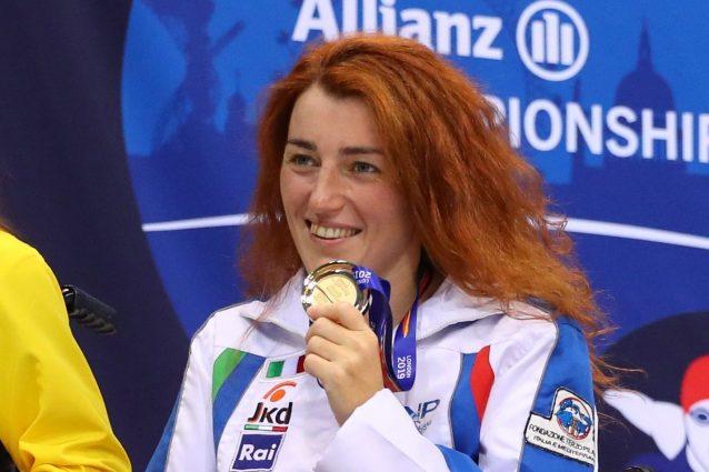 """GettyImages 1174505942 1630227937318 638x425 - Arjola Trimi d'oro, Italia pigliatutto nel nuoto alle Paralimpiadi: """"L'acqua mi rende libera"""""""