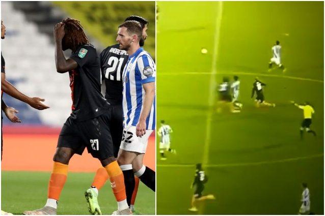 Moise Kean espulsione rissa Everton esordio stagionale Coppa Lega Carabao Cup - Moise Kean da horror con l'Everton: reazione, rissa ed espulsione in Coppa di Lega