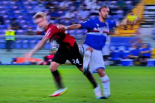 Schermata 2021 08 23 alle 22.20.55 638x425 - Brutto infortunio per Gabbiadini in Samp-Milan: l'attaccante lascia il campo in lacrime