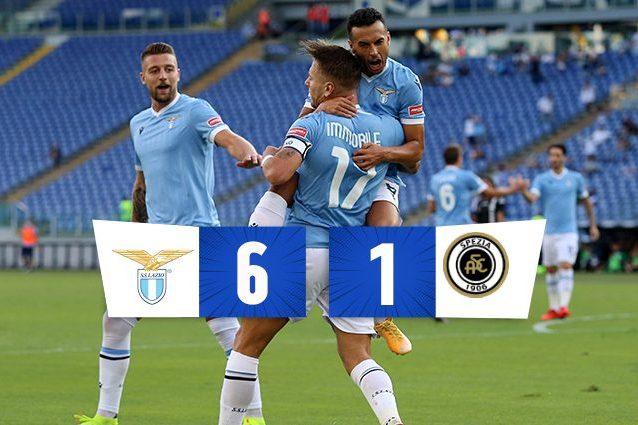 THUUMB LAZIO 638x425 - Immobile e Luis Alberto trascinano la Lazio all'Olimpico: 6-1 allo Spezia